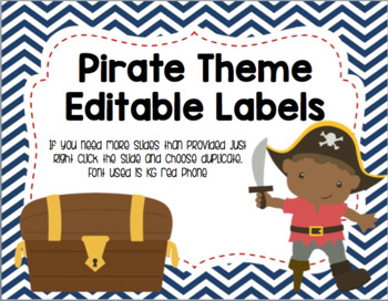 Pirate Theme Editable Labels