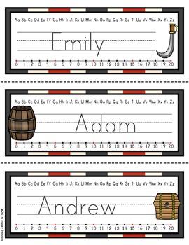 Pirate Theme - Editable Name Tags - Classroom Decor