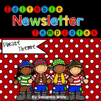 Editable Newsletter Templates - Pirate Theme