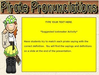 Pirate Theme Editable PowerPoint
