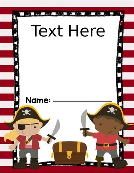 Pirate Theme Folder Cover