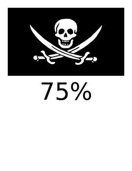 Pirate Theme Goal Tracker Bulletin Board Signs