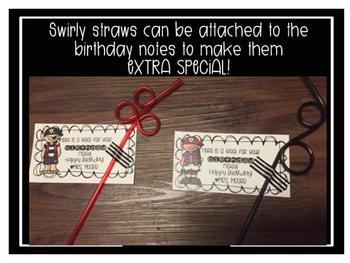 Pirate Theme Happy Birthday Notes