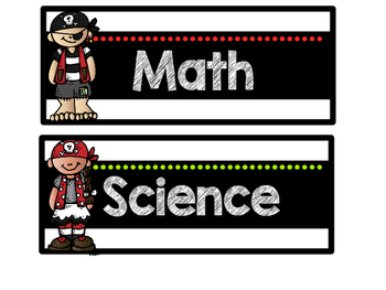 Pirate Theme I Can Objective Signs & Subject Signs