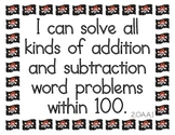 Pirate Theme 'I Can' Statements - Second Grade Math CCSS