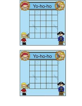 Pirate Theme Incentive Sticker Chart