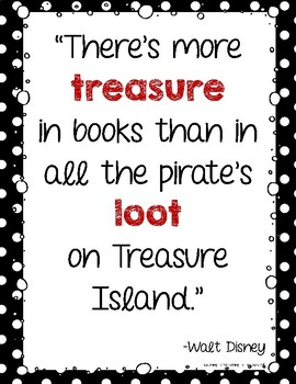 Pirate Theme Inspirational Quotes By Learning Is Something To Treasure