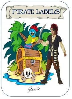 Pirate Theme Labels - 6 Designs