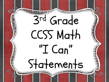 "Pirate Theme - Math ""I Can"" Statements"