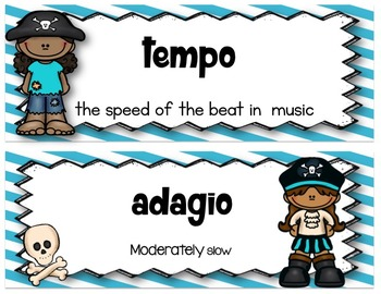 Pirate Theme Music Word Wall