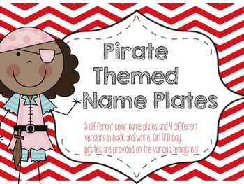 Pirate Theme Name Plate Templates