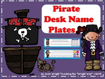 Pirate Theme Name Plates