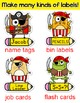 Pirate Theme Name Tags and Locker Labels