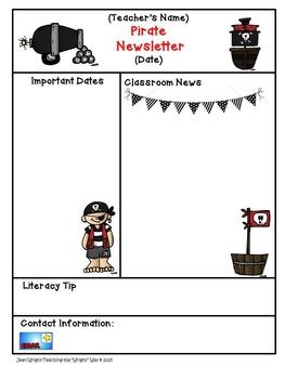 Pirate Theme Newsletter