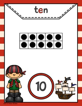 Pirate Theme - Number Posters 1-20 - Classroom Decor