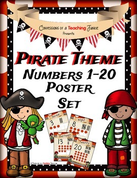 Pirate Theme Number Posters Set 1-20