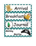 Pirate Theme Objective Labels for Daily Schedule