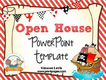 pirate theme open house ~ back-to-school ~ powerpoint template, Powerpoint templates
