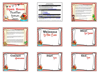 Theme open house back to school powerpoint template pirate theme open house back to school powerpoint template personalize it toneelgroepblik Choice Image