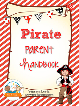 Pirate Theme Parent Handbook ~ Printable ~ Back-to-School {personalize it}