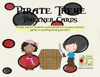 Pirate Theme Partner Cards