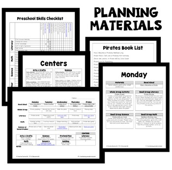 Pirate Theme Preschool Classroom Lesson Plans