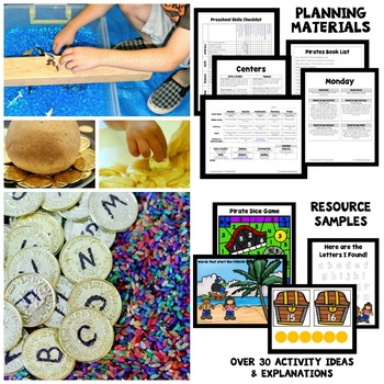 Pirate Theme Preschool Lesson Plans By Eceducation  Tpt