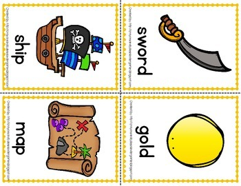 Pirate Theme Read the Room ~Initial Sounds~ PLUS Sentence Building Cards