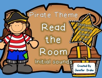 Pirate Theme Read the Room ~Initial Sounds~ PLUS Sentence