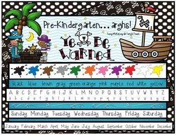 Pirate Theme Resource Mat