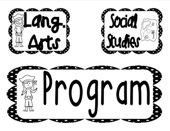 Pirate Theme Schedule and Homework Signs for Board