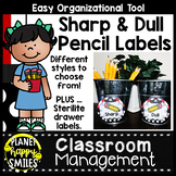 Pirate Theme Sharp and Dull Pencil Labels