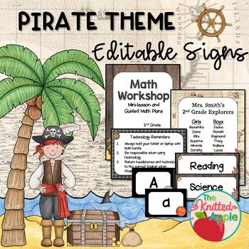 Pirate Theme Sign Templates {Editable}