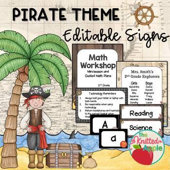 Pirate Theme Sign Templates {Editable}