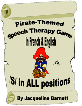 Pirate Theme Speech Therapy Game in French & English-- /s/ in ALL positions