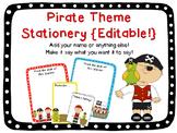 Pirate Theme Stationery {Editable!}