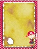 Pirate Theme Stationary- Girl