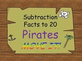 Pirate Theme Subtraction to Facts of 20 MOVE IT!