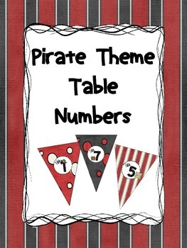 Pirate Theme - Table Numbers