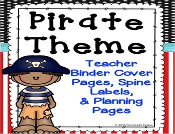 Pirate Theme Teacher Binder