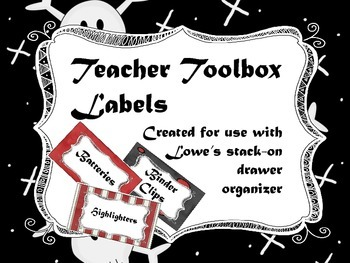 Pirate Theme - Teacher Toolbox Labels