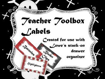 Pirate Theme - Teacher Toolbox Labels