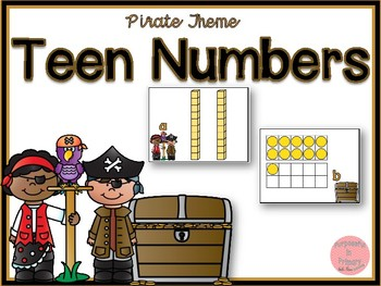 Pirate Theme Teen Numbers