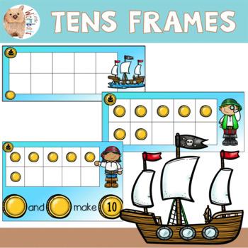 Pirate Theme Tens Frames - Mathematics by Little Wombats | TpT