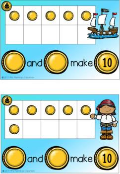 Pirate Theme Tens Frames - Mathematics