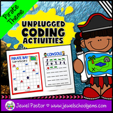 Pirate Theme Unplugged Coding Activities