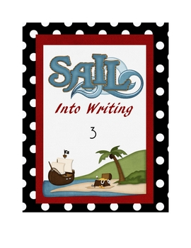Pirate Theme Writing Binder Cover