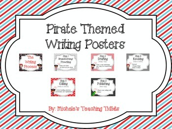 Pirate Theme Writing Process Posters