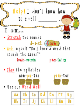 Pirate Theme Writing_ Spelling Poster