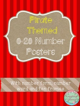 Pirate Themed 0-20 Numbers Posters